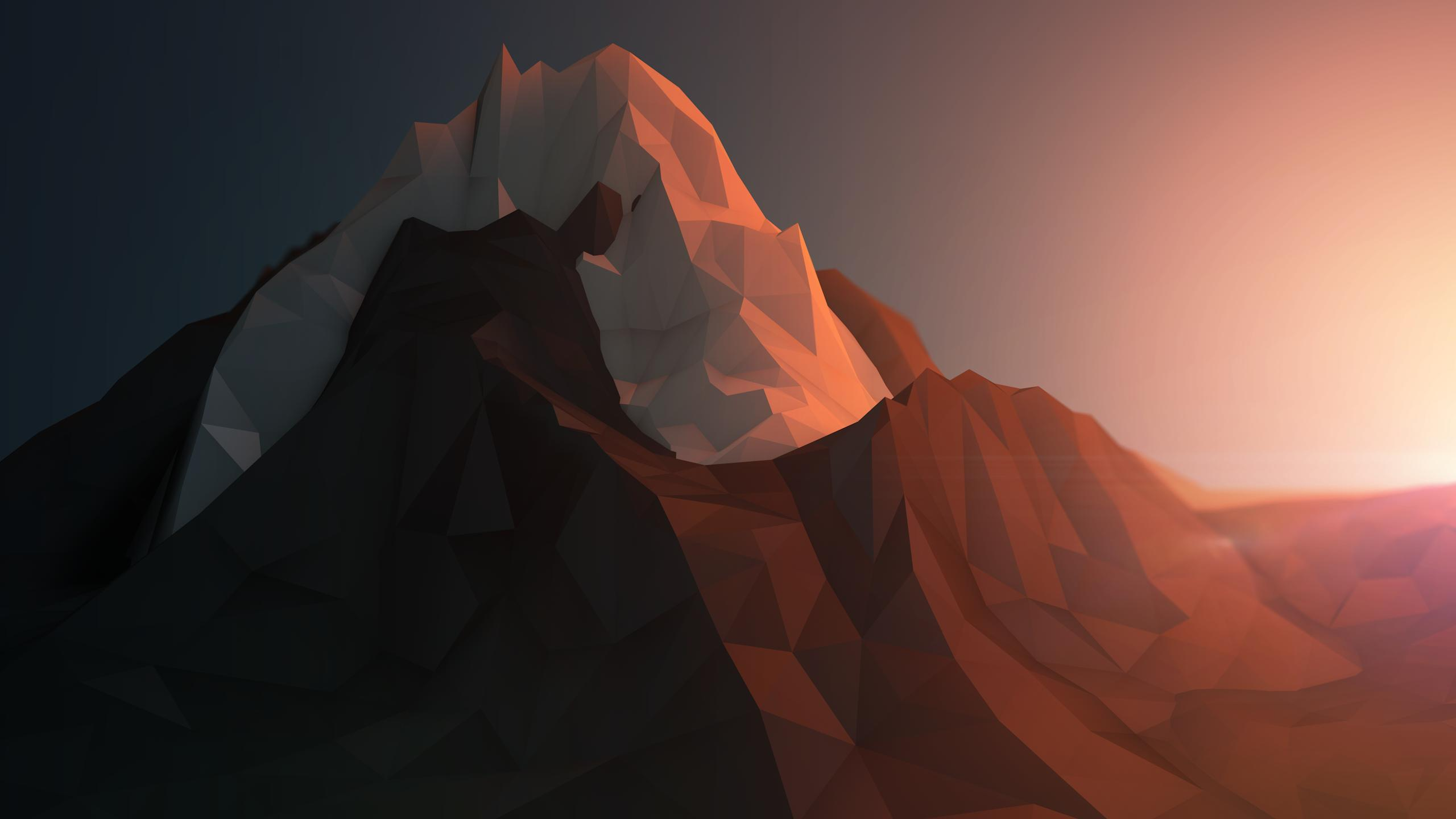Polygon-Mountain-Wallpaper