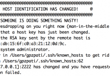 Ssh rsync bağlantı çözümü! warning: remote host identification has changed! 2