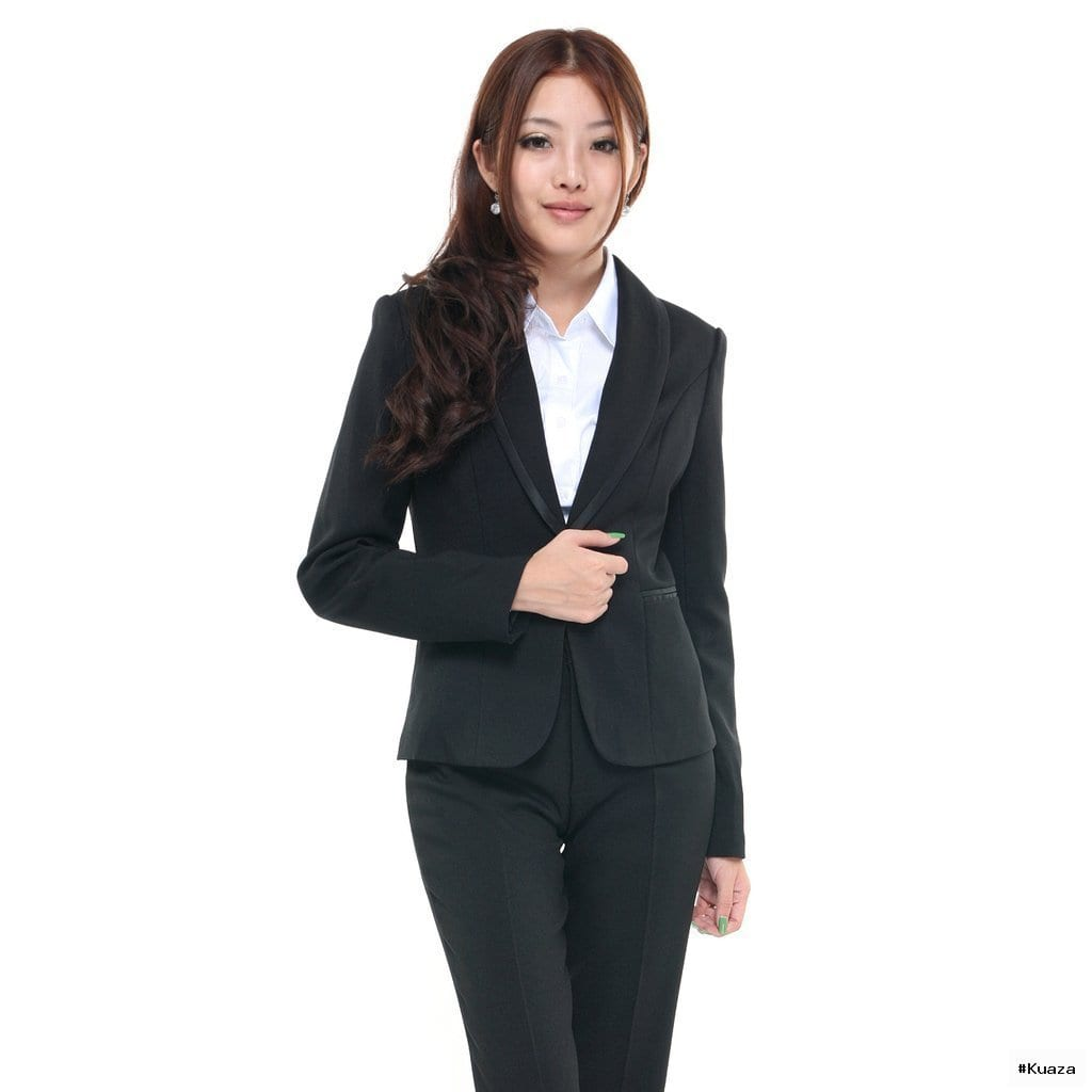 women's shawl collar one button pants suits formal slim Pant Suits …
