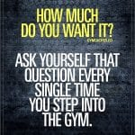 Motivational gym quotes: How much do you want it? | Gym quote ...